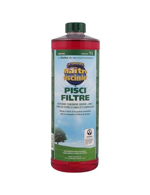 Procurez-vous le nettoyant pour filtre de piscine Pisci-Filtre de Maître Piscinier