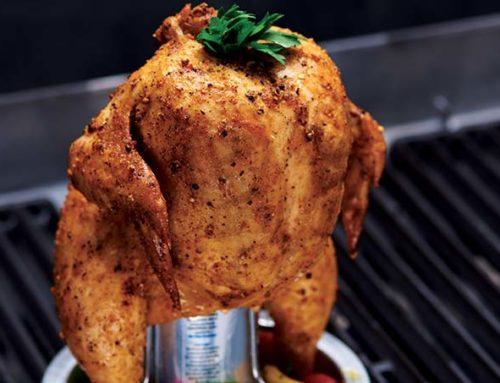 Une recette de poulet sur canette de bière à essayer
